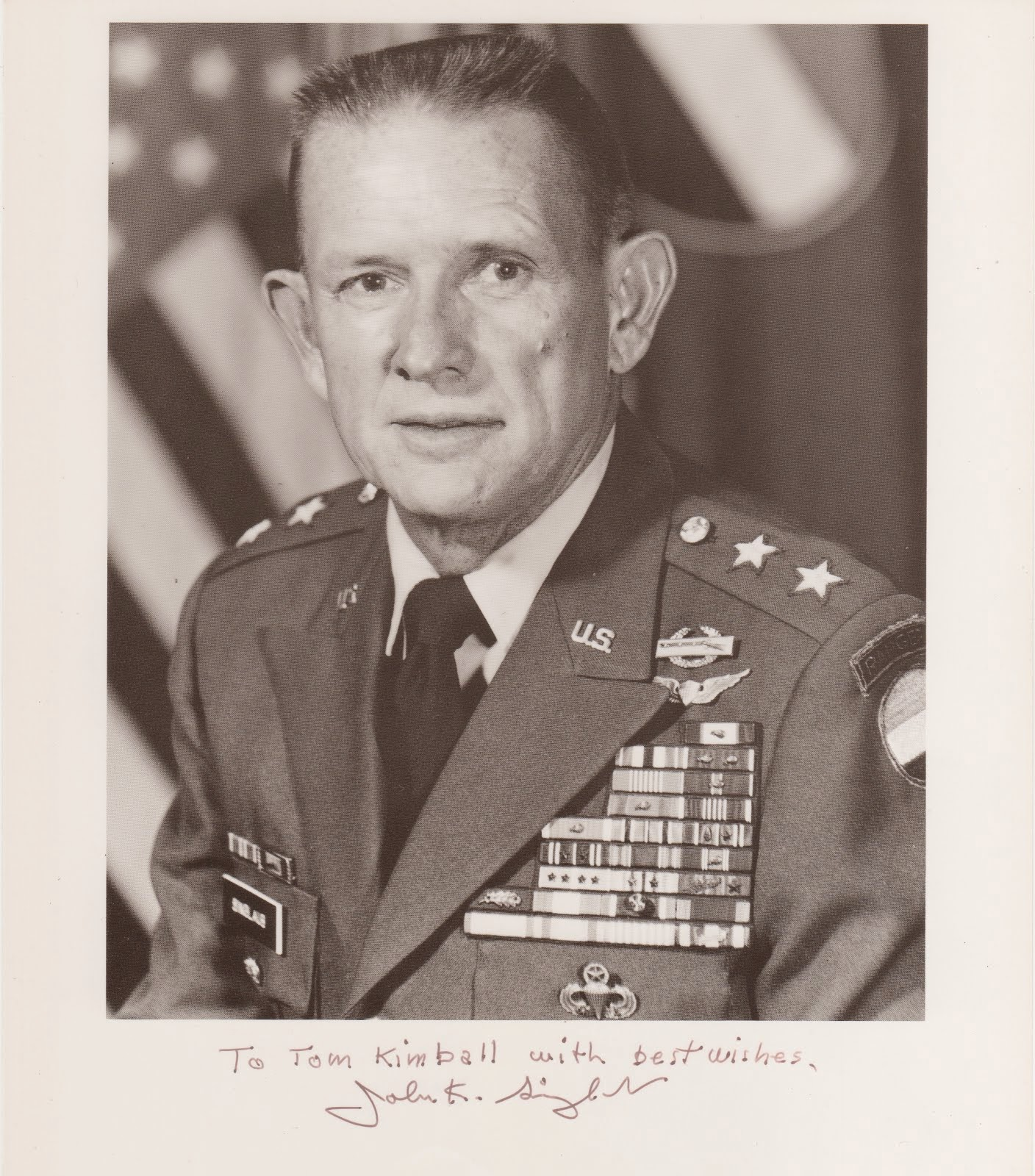 Major General John K. Singlaub chief of staff, Project MASSTER, Fort Hood, TX