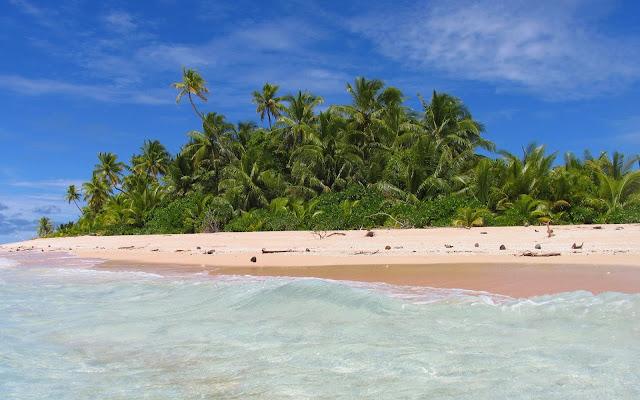 Playas de Tuvalu en la Polinesia