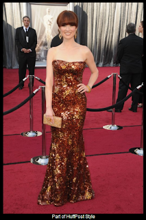 Oscars 2012 Ellie Kemper in Armani Prive