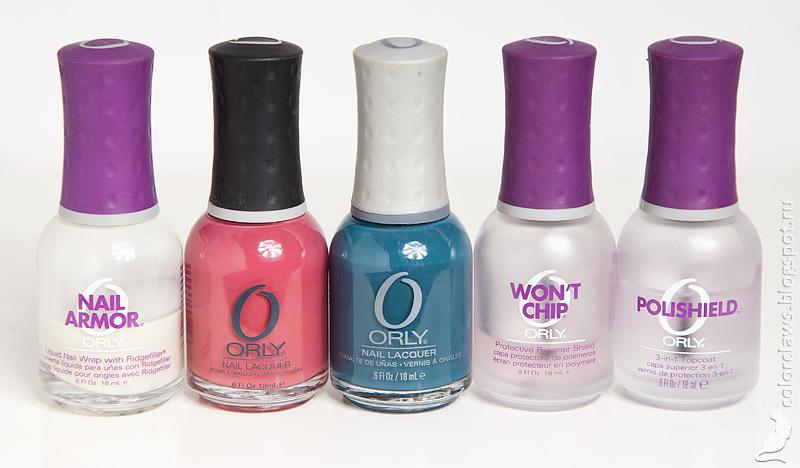 Orly Pink Chocolate + Sapphire Silk