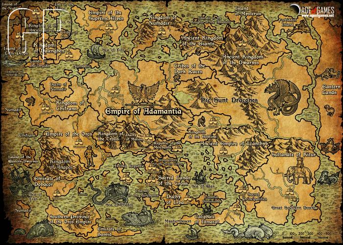 Mapa para fans de Fantasy Kommander - Eukarion Wars