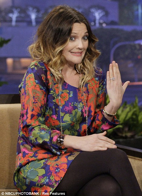 Drew Barrymore Four-Carat Engagement Ring