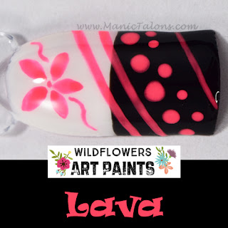 Wildflowers Nail Art Paint Lava