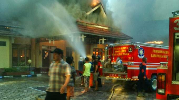 Kebakaran Hebat Sangatta : Kantor BKD Kutim Ludes