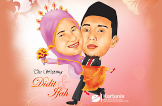 wedding karikatur