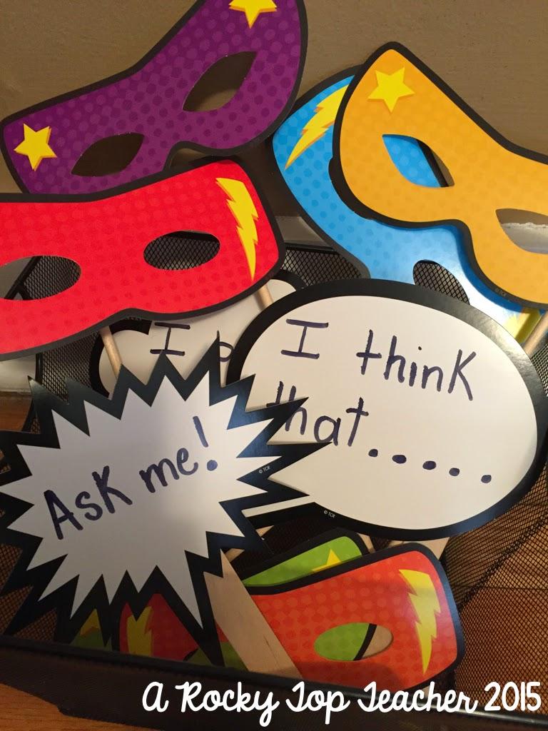 Classroom Decor Superhero ~ A rocky top teacher chalkboard brights and superhero