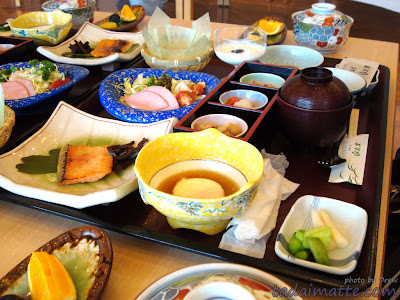 Traditional and beautiful breakfast at a ryokan in Yamanashi