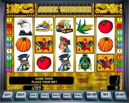 за золотом Ацтеков с Лаваслотс и автоматом Aztec Treasure