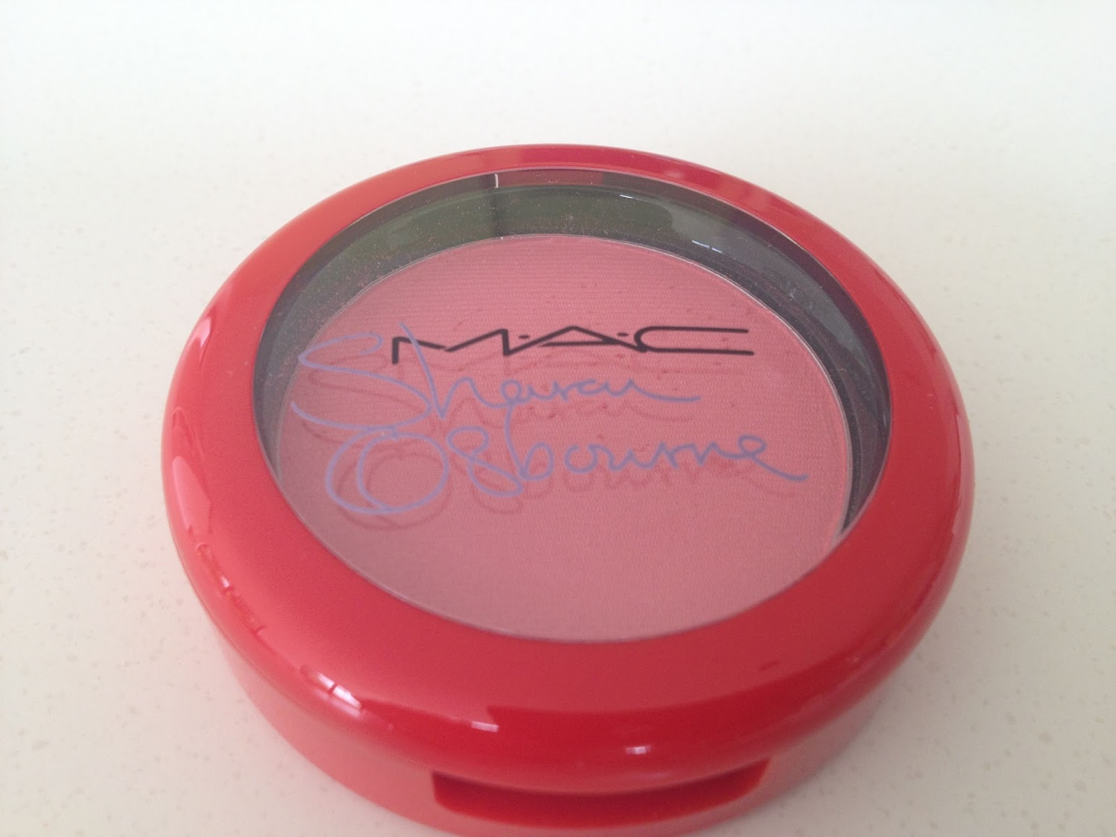 MAC Sharon Osbourne Peaches & Cream Powder Blush packaging