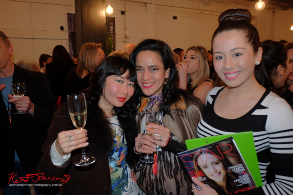Vivala Viv with Lyesther Collyer at Wolftress WE ARE WARRIORS, VIP Launch 2015 - Photo by Kent Johnson.