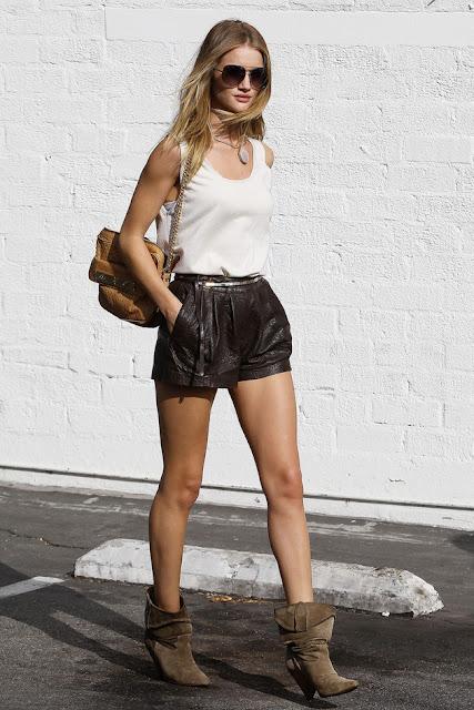 Pastel Blonde Rosie Huntington Whiteley Street Style