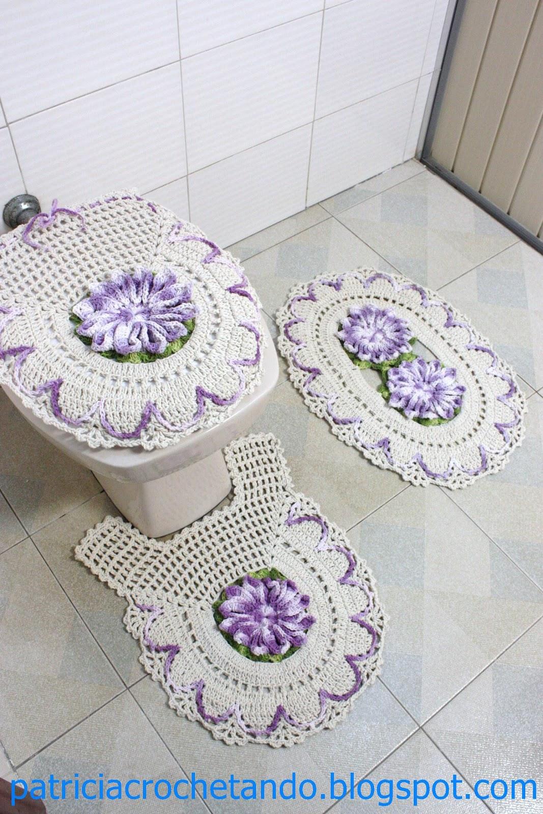 Jogo De Banheiro   Flor Mega Bico De Papagaio