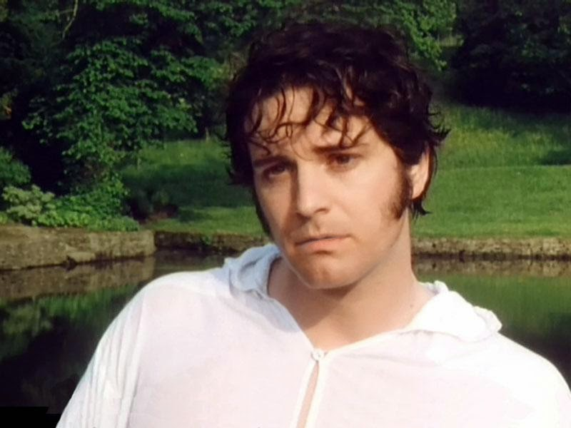 bbc series pride and prejudice colin firth white shirt mr fitzpatrick darcy