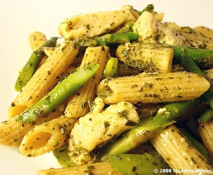 Quick Healthy Recipes: Chicken Pesto Pasta Recipe | Healthy Chicken ...
