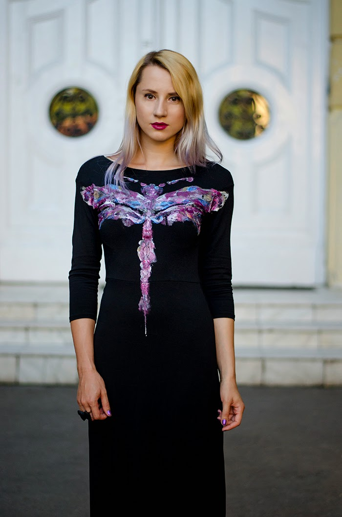 painted dragonfly dress