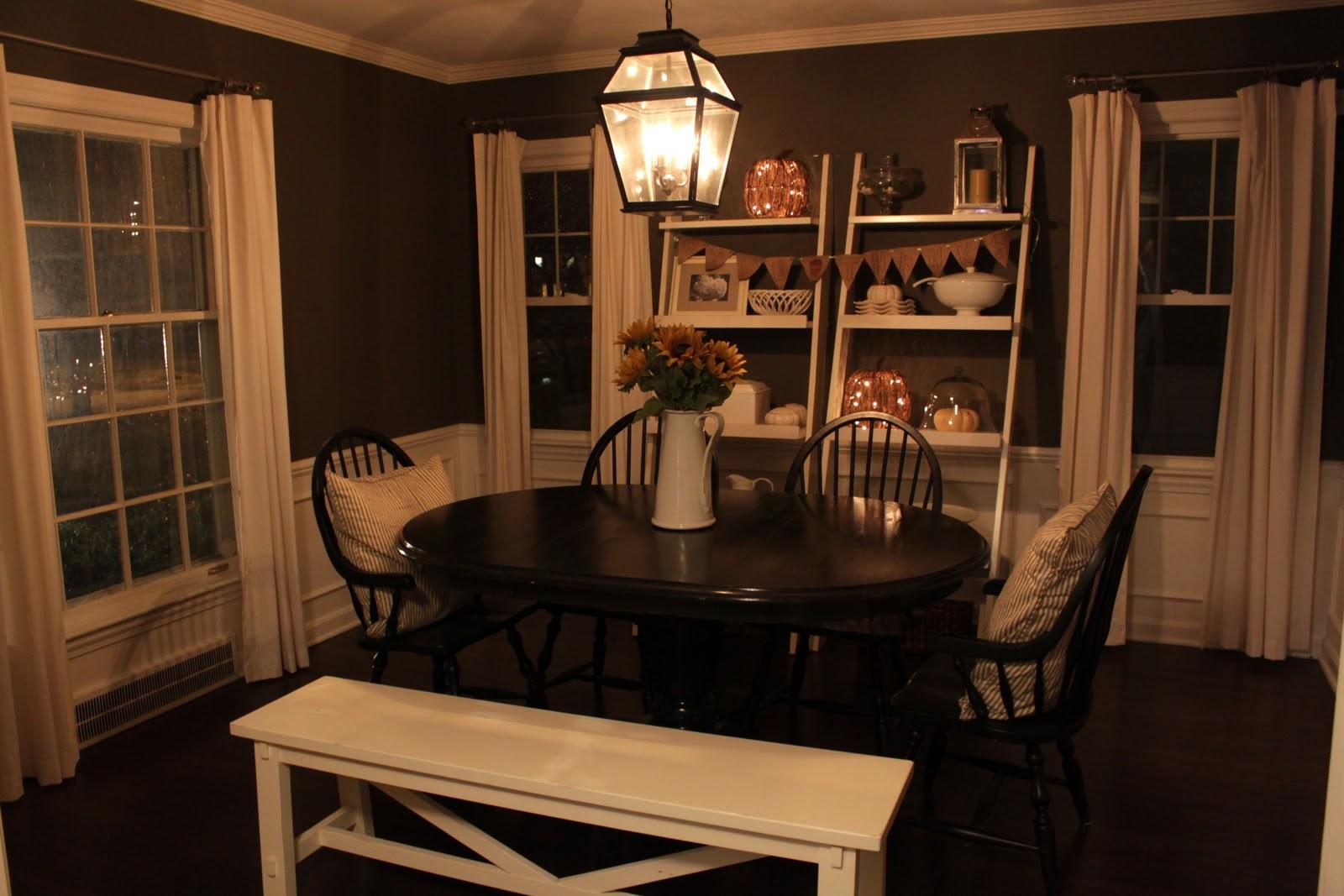 The Fat Hydrangea Dining Room Thanksgiving Decor My Pinterest