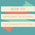 How To Post Article In Blog?