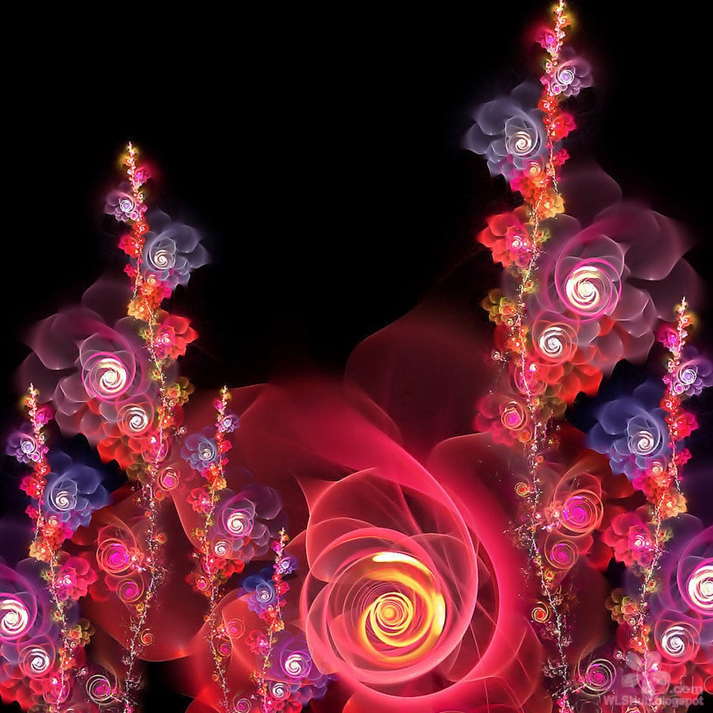3d fantasy flowers wallpapers free download hd pictures - Flower wallpaper 3d pic ...