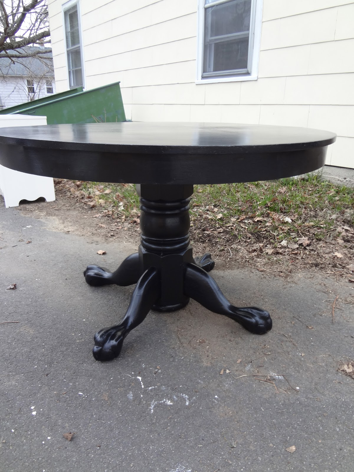 Oak Pedestal Table ~ Heir and space an antique oak pedestal table
