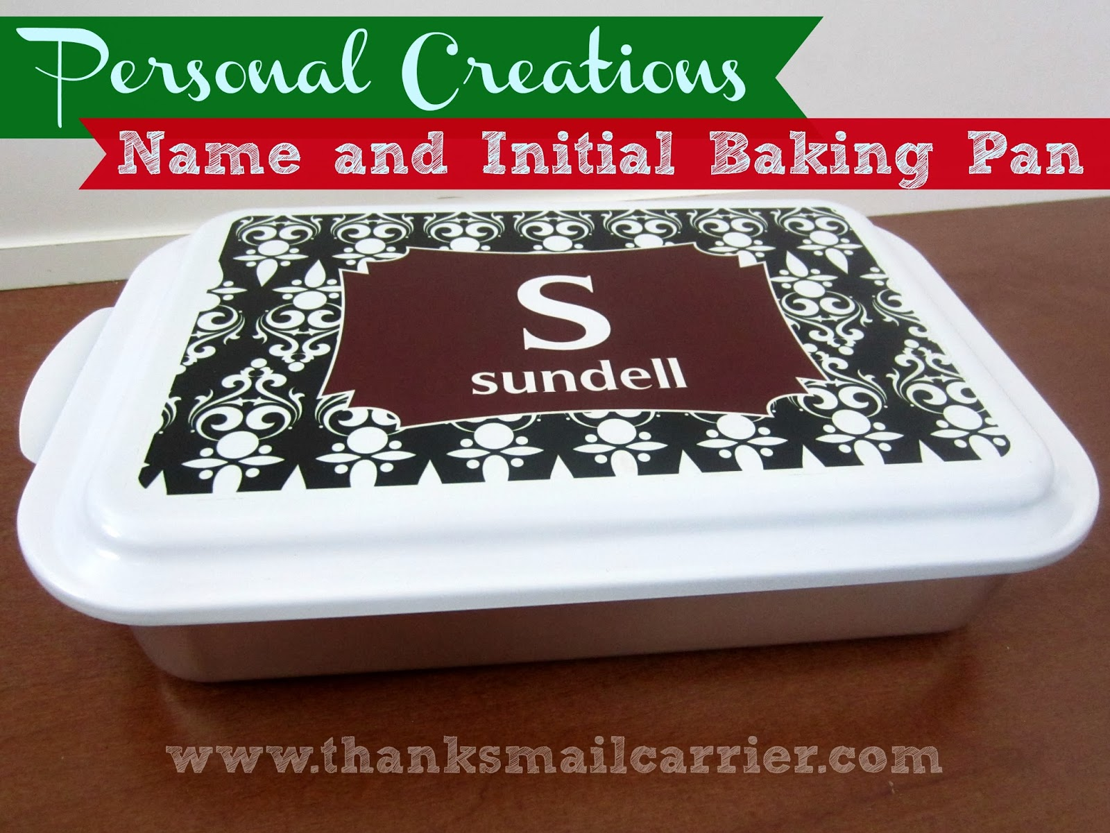 Name and Initial Baking Pan