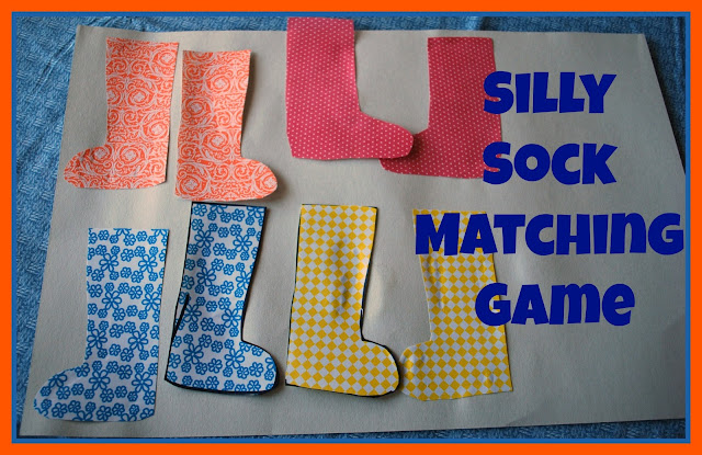 Silly Sock Matching Game, #kids