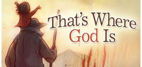 Aca es donde nuestro Dios esta ... en medio de nuestros campos, entre las lineas divisorias abunda