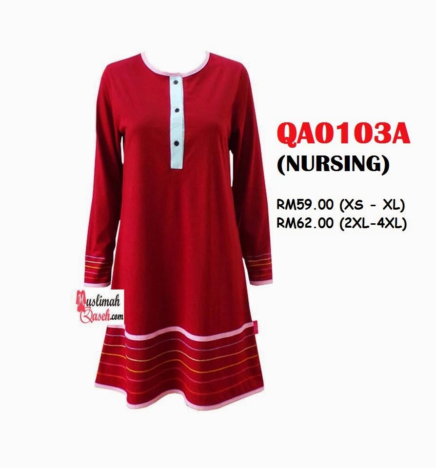 T-Shirt-Muslimah-Qaseh-QA0103A