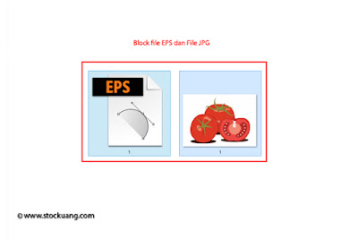 block file EPS dan JPG untuk di Zip