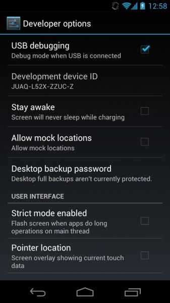 ICS USB Debugging
