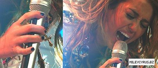 Miley en su concierto