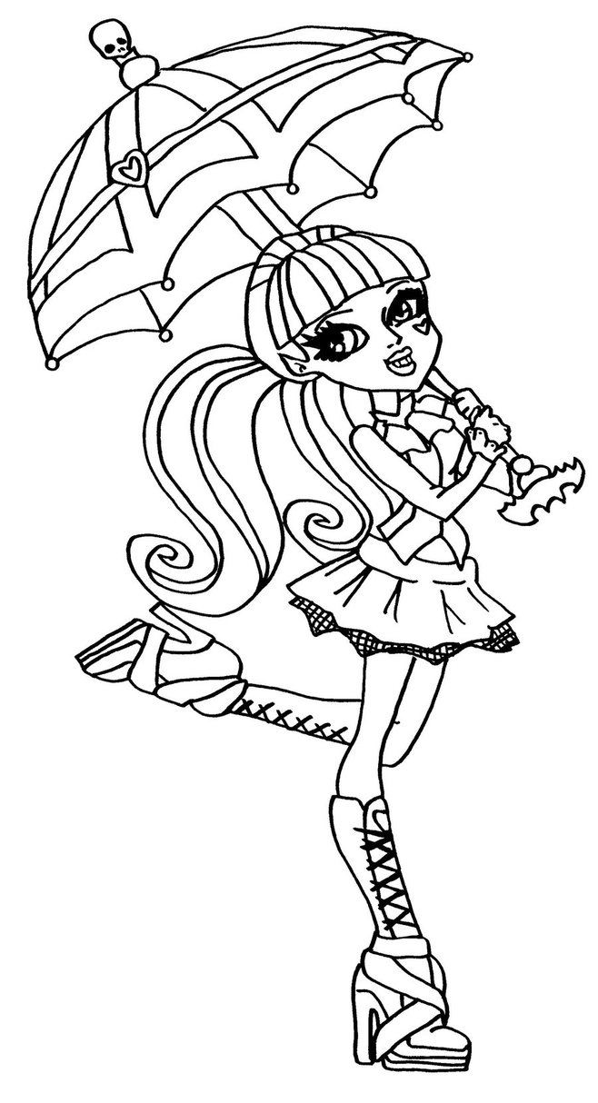 Dibujos Para Colorear E Imprimir Monster High 04