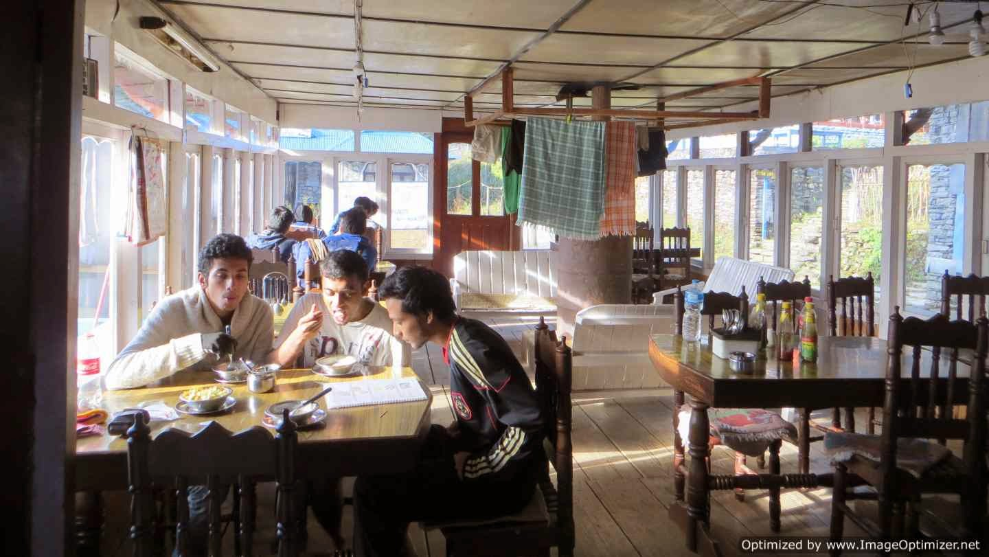 Breakfast at Shikhar Guest House, Ghorepani