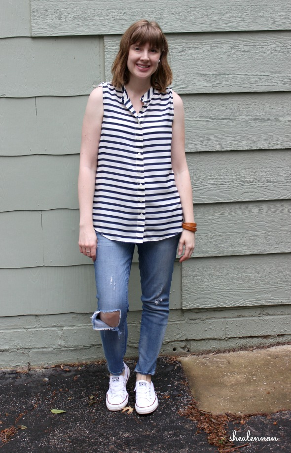 stripes and sneakers weekend look | www.shealennon.com