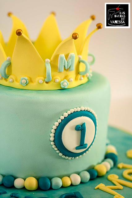 tarta de fondant corona príncipe
