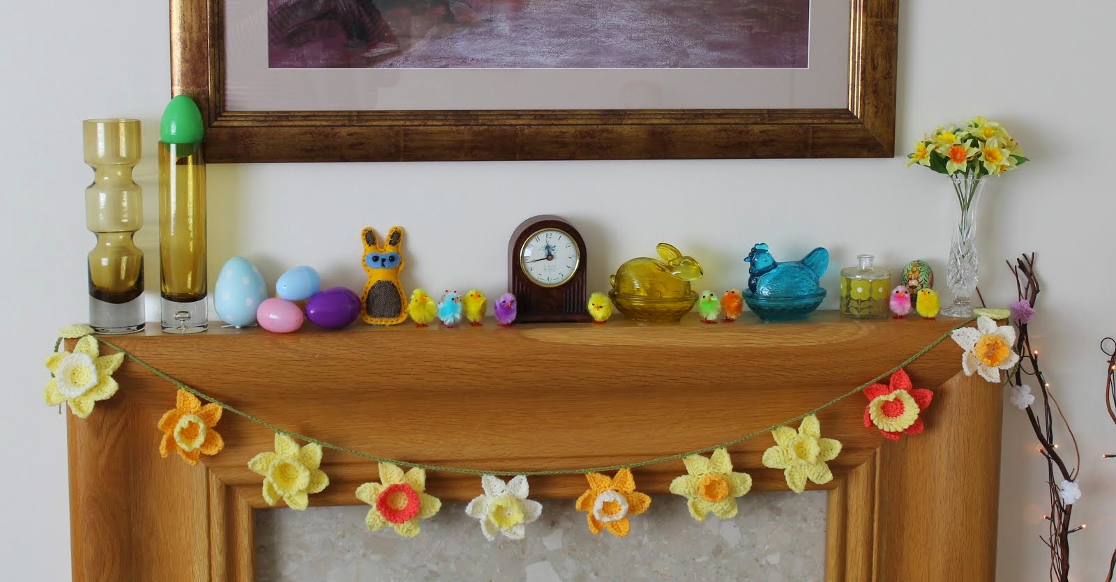 A year of decorating my mantel