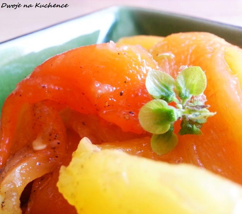 Opiekana papryka z ziołami i oliwą z oliwek