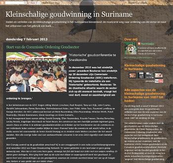Kleinschalige goudwinning in Suriname: historie en actueel nieuws