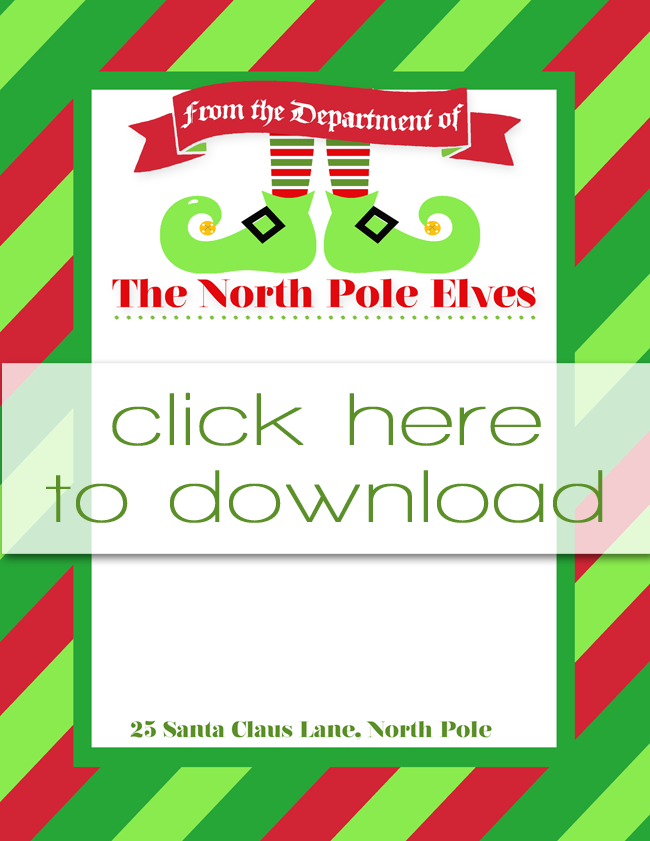 Free Printable Elf on the Shelf Letterhead | Instant Download | Two ...