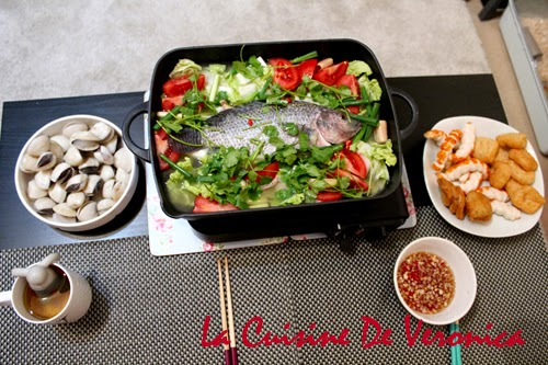 La Cuisine De Veronica 泰式魚煲 Steamed Fish in Lime Sauce