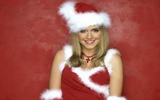 Free Download Christmas Smile Girl Wallpaper