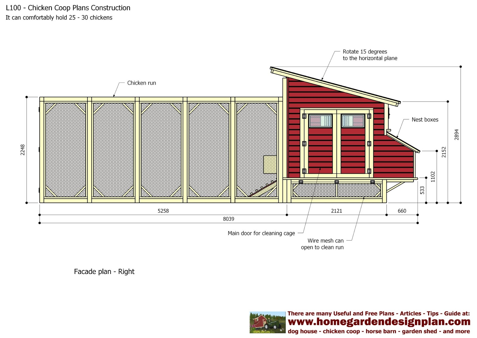 Plans for building a chicken coop 100 backyard chicken for Small backyard chicken coop plans free