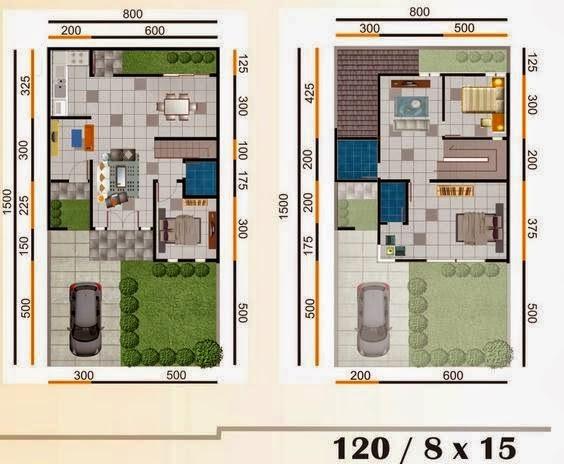 gambar desain dan sketsa rumah minimalis tipe 120 terbaru