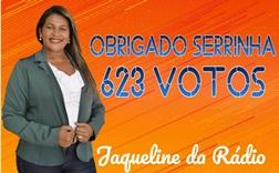 Jaqueline da Rádio ganha destaque com sua votação