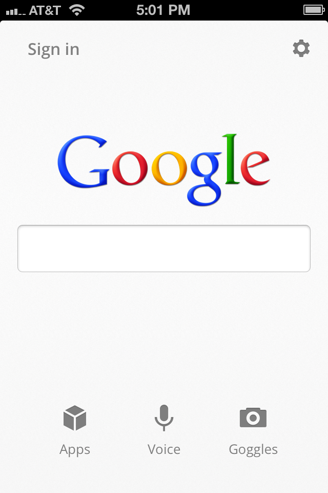 official google blog a faster simpler google search app