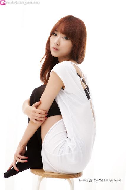 5 Minah in Black and White-Very cute asian girl - girlcute4u.blogspot.com