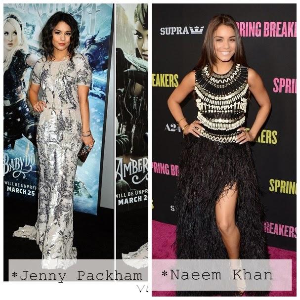 Vanessa Hudgens Jenny Packham Naeem Khan