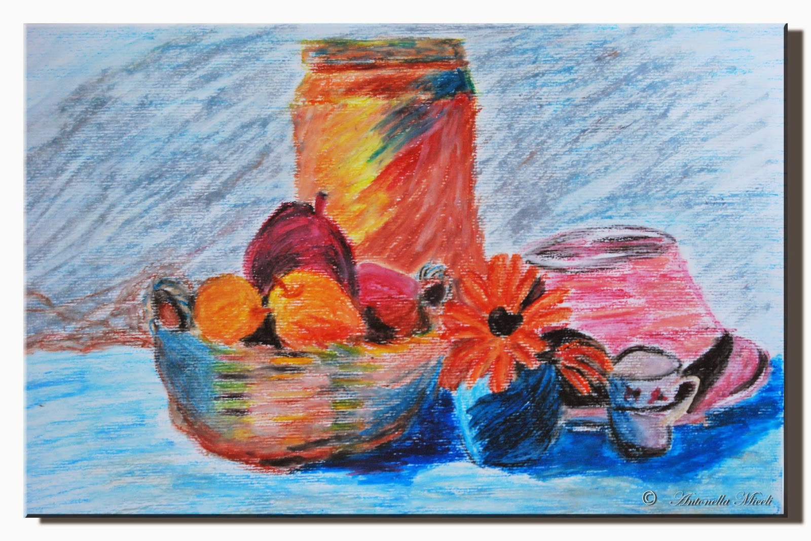 L 39 arte e i suoi colori natura morta con pastelli a olio for Colori ad olio professionali