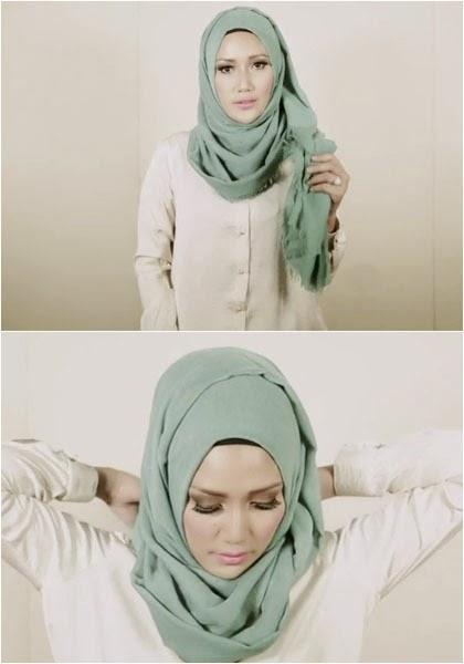 Cara Memakai Jilbab Terbaru Step 5