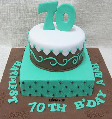 Cake Designs For 70 Year Old Man : Mom And Daughter Cakes: Happiest 70th Birthday To Abah