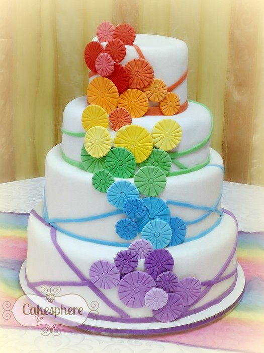 Rainbow Wedding Cakes [14 Pic] ~ Awesome Pictures